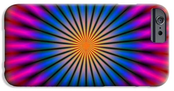 Disc iPhone Cases - Energetic Hypno Disc iPhone Case by Daniel Hagerman