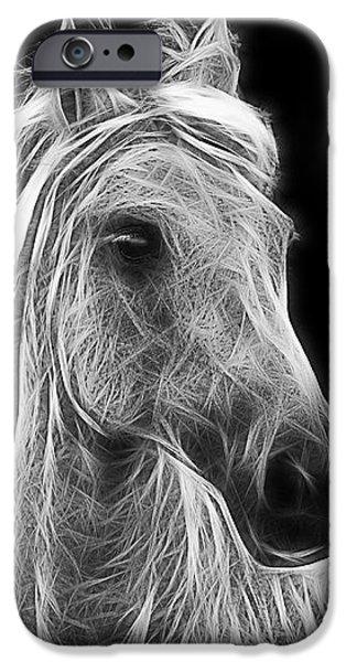 energetic white horse iPhone Case by Joachim G Pinkawa