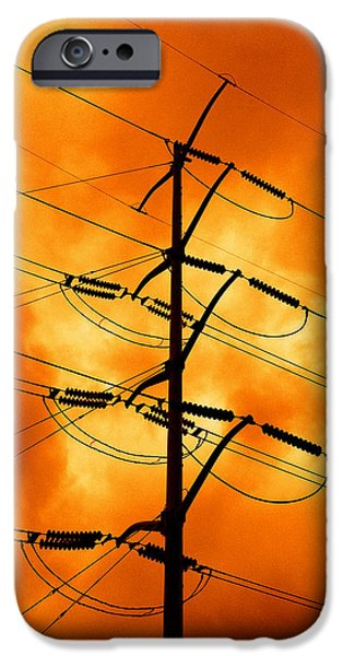 Grid Photographs iPhone Cases - Energized iPhone Case by Don Spenner