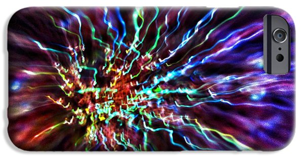 Abstract Expressionist Photographs iPhone Cases - Energy 2 - Abstract iPhone Case by Marianna Mills