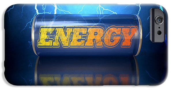 Animation iPhone Cases - Energy Drink Can iPhone Case by Allan Swart
