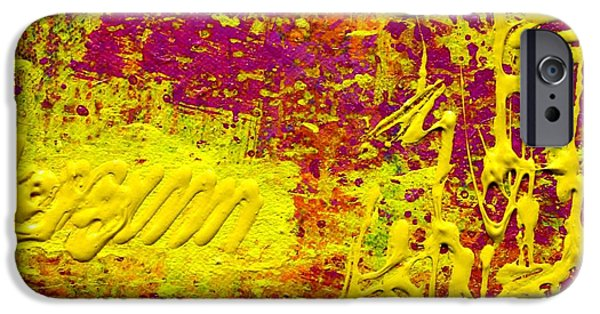 Fine Art Abstract iPhone Cases - Energy iPhone Case by John  Nolan