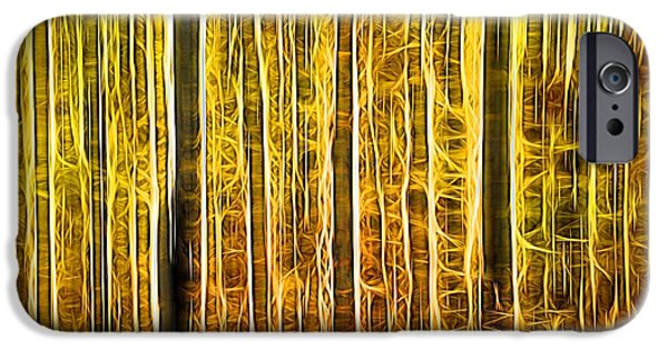 Connect Mixed Media iPhone Cases - Energy Of The Forest Autumn Color iPhone Case by Dan Sproul