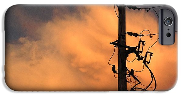 Power Photographs iPhone Cases - Energy-Power Line-Clouds iPhone Case by Don Spenner