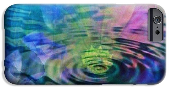 Inner Self Paintings iPhone Cases - Energy Ripples iPhone Case by PainterArtist FIN