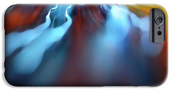 Illumination iPhone Cases - Energy trails iPhone Case by Les Cunliffe