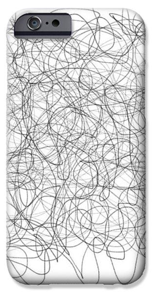 Energy Vortex iPhone Case by Daina White
