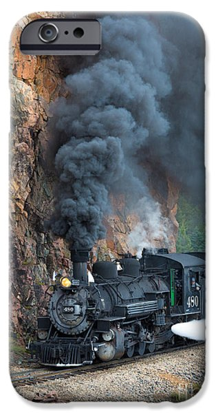 Railway iPhone Cases - Engine 480 iPhone Case by Inge Johnsson