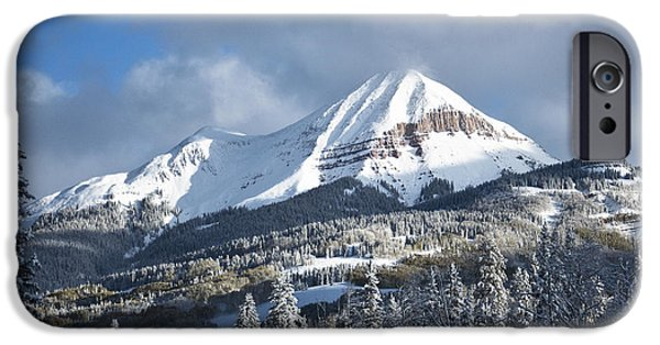 Winter Storm Pyrography iPhone Cases - Engineer Mountain After the Snow Colorado iPhone Case by David  King