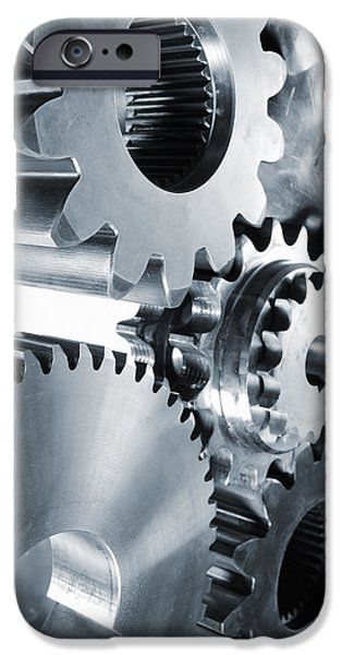 Gear iPhone Cases - Engineering And Technology Gears iPhone Case by Christian Lagereek