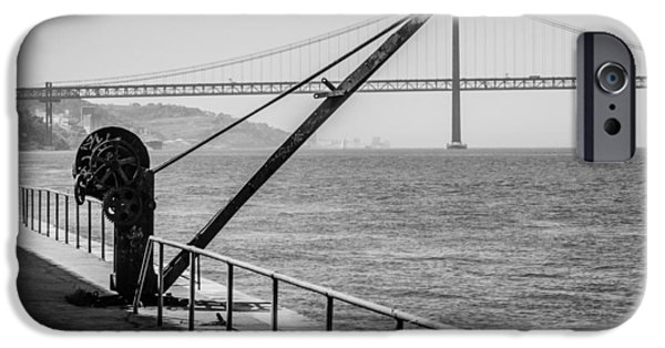 Oakland Bay Bridge iPhone Cases - Engineering iPhone Case by Marco Oliveira