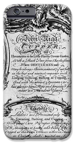 ENGLAND: CUPPER, 1700s iPhone Case by Granger