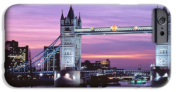 Connection iPhone Cases - England, London, Tower Bridge iPhone Case by Panoramic Images