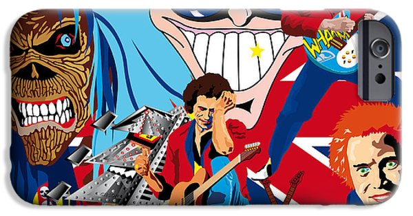 Keith Richards iPhone Cases - England Rocks iPhone Case by Neil Finnemore