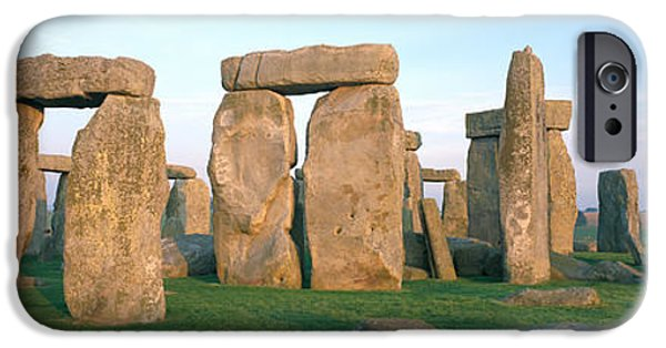 Great Mysteries iPhone Cases - England, Wiltshire, Stonehenge iPhone Case by Panoramic Images