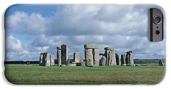 Wiltshire iPhone Cases - England, Wiltshire, View Of Rock iPhone Case by Panoramic Images