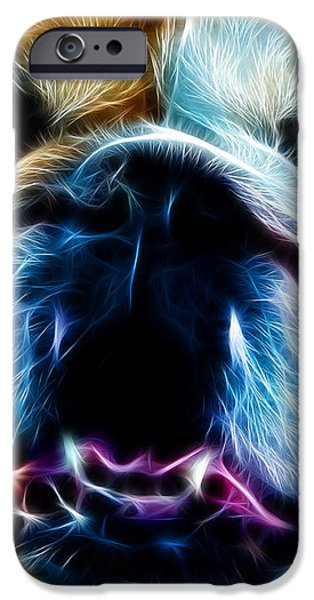 English Bulldog - Electric iPhone Case by Wingsdomain Art and Photography