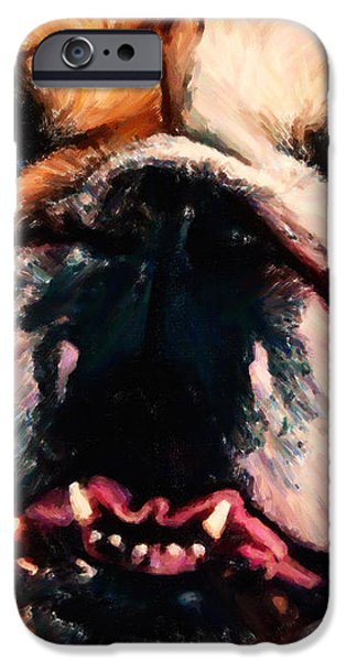 English Bulldog - Painterly iPhone Case by Wingsdomain Art and Photography