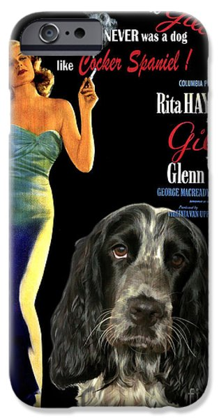 Cocker Spaniel Paintings iPhone Cases - English Cocker Spaniel Art - Gilda iPhone Case by Sandra Sij