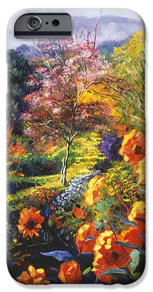 Pathway iPhone Cases - English Country Colors iPhone Case by David Lloyd Glover