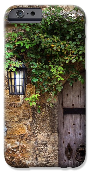 Charming Cottage iPhone Cases - English Door iPhone Case by Jill Battaglia