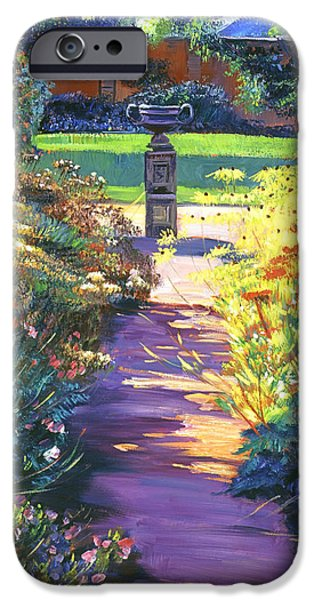 Pathway iPhone Cases - English Garden Urn iPhone Case by David Lloyd Glover