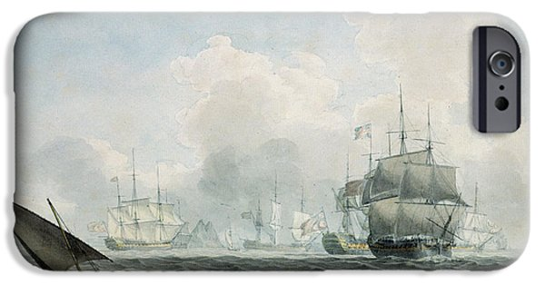 Sea iPhone Cases - English Ships Of War iPhone Case by Robert Cleveley