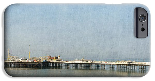 Nineteenth iPhone Cases - English Victorian Seaside Pier - textured iPhone Case by David Hill