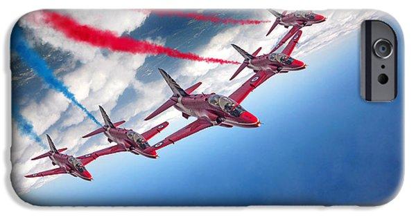 Red Tail Hawk Digital Art iPhone Cases - Enid iPhone Case by J Biggadike