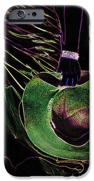 Enigma Emerald. Black Art iPhone Case by Jenny Rainbow