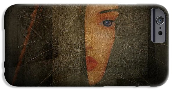 Lips iPhone Cases - Enigma iPhone Case by Irma BACKELANT GALLERIES