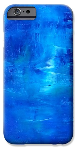 Business Paintings iPhone Cases - Enigma  iPhone Case by Tanya Lozano-tul