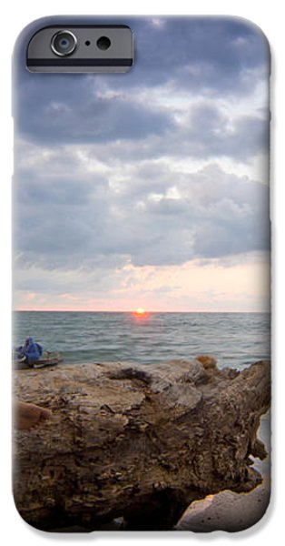 Enjoing the sunset iPhone Case by Aged Pixel