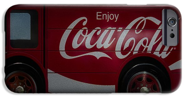 Delivery Truck iPhone Cases - Enjoy Coca Cola iPhone Case by Susan Candelario