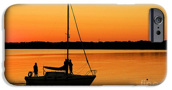 Boat iPhone Cases - Enjoy The Moment 02 iPhone Case by Aimelle