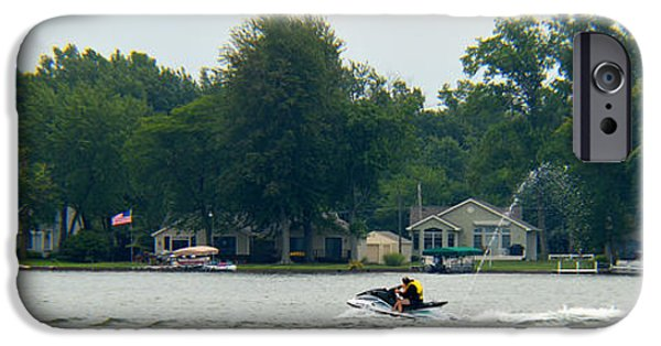 Fed iPhone Cases - Enjoying Lake Wawasee iPhone Case by Tina M Wenger
