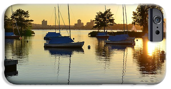 Oxford. Oxford Ma. Massachusetts iPhone Cases - Enjoying the sunset on the Charles River in Boston iPhone Case by Toby McGuire