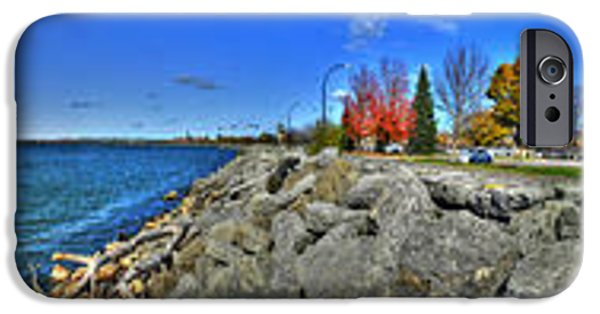 Michael iPhone Cases - Enjoying the View at the Erie Basin Marina iPhone Case by Michael Frank Jr