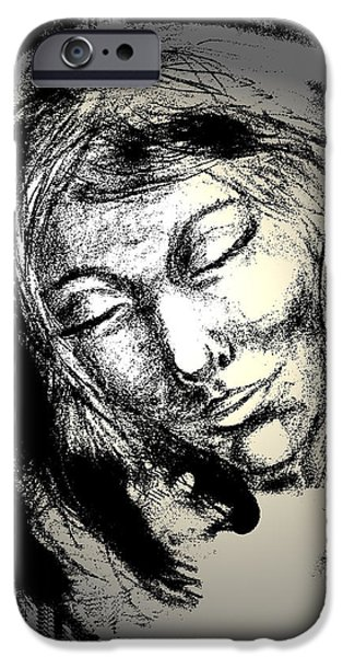 Spiritual Portrait Of Woman iPhone Cases - Enlightenment iPhone Case by Natalie Holland