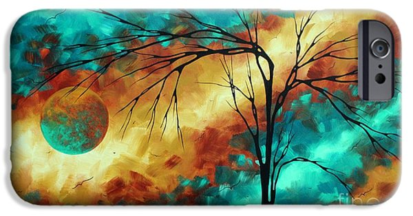 Pantone iPhone Cases - Enormous Abstract Art Brilliant Colors Original Contemporary Painting REACHING FOR THE MOON MADART iPhone Case by Megan Duncanson