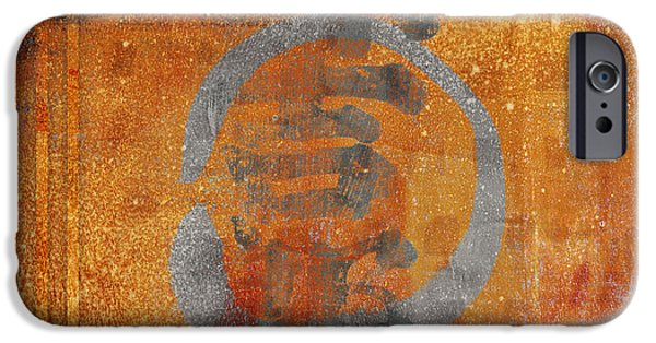 Photomontage iPhone Cases - Enso Circle iPhone Case by Carol Leigh