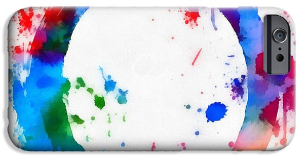 The Void iPhone Cases - Enso Circle Paint Splatter iPhone Case by Dan Sproul