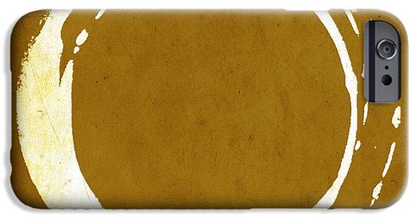Enso iPhone Cases - Enso No. 107 Saffron iPhone Case by Julie Niemela
