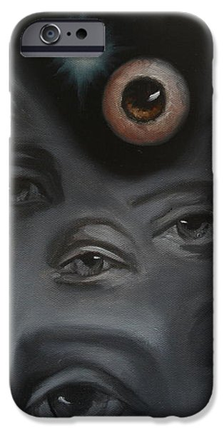 Enter-Preyes iPhone Case by Lisa Phillips Owens