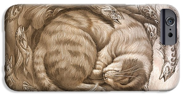 Cats Digital iPhone Cases - Enter the rest iPhone Case by Jeff Haynie
