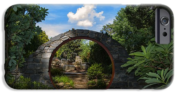 Garden Images iPhone Cases - Entering the Garden Gate iPhone Case by Chris Flees