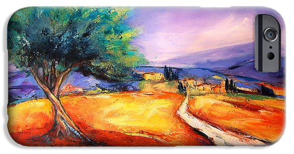 Tuscan Landscapes iPhone Cases - Entering the Village iPhone Case by Elise Palmigiani