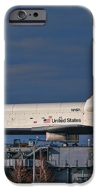 Enterprise at the Intrepid iPhone Case by S Paul Sahm