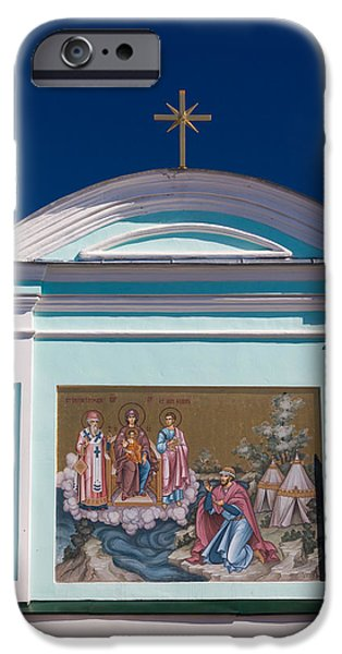 Russian Cross iPhone Cases - Entrance Gate Detail, Monastery Of St iPhone Case by Panoramic Images