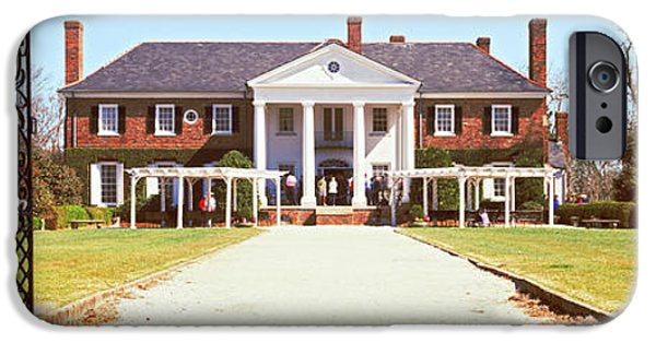 House iPhone Cases - Entrance Gate Of A House, Boone Hall iPhone Case by Panoramic Images